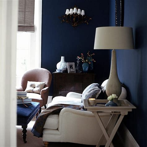 Midnight Room by Midnight Blue Living Room White Accents Midnight Blue