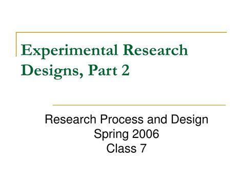 experimental design powerpoint high school ppt experimental research designs part 2 powerpoint