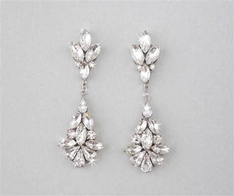 Teardrop Chandelier Bridal Earrings Wedding Earrings Chandelier Bridal Earrings Vintage Wedding Earrings Dangle