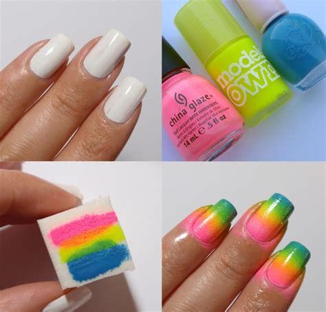 tutorial nail art ombre easy nail art tutorial for beginners inspiring nail art