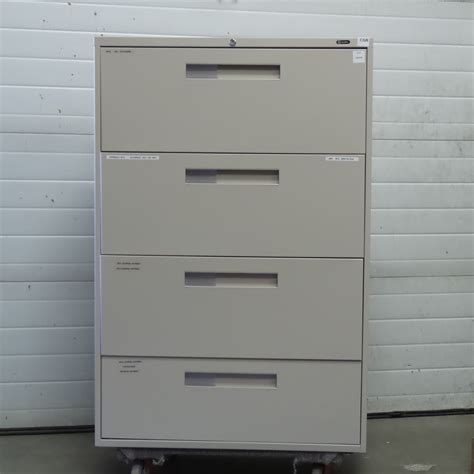 Global Grey 4 Drawer Lateral File Cabinet Locking Global Lateral File Cabinet