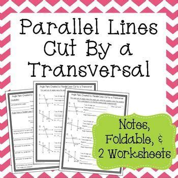 Parallel Lines Cut By A Transversal Worksheet 8th Grade