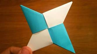 How To Make A Paper Ninga - origami how to make a paper shuriken