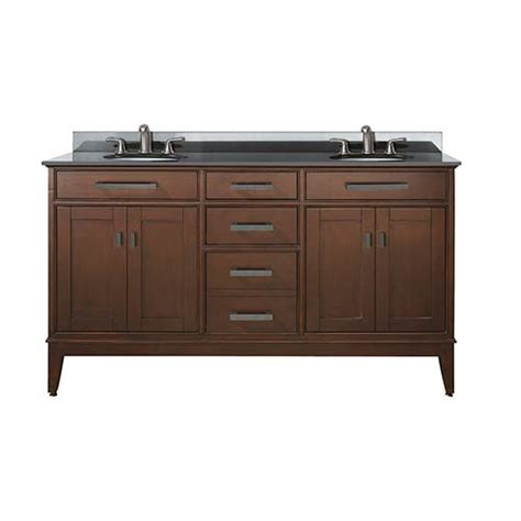 60 Sink Vanity With Granite Top by Tobacco 60 Inch Sink Vanity With Black