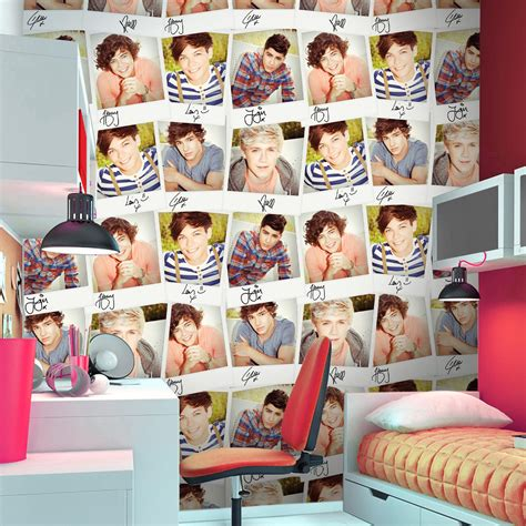 one direction room decor one direction collage large photo wall mural room decor wallpaper 270 x 253cm ebay