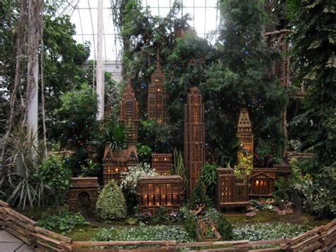 Holiday Train Show New York Botanical Garden Bronx Park New York Botanical Garden Parking