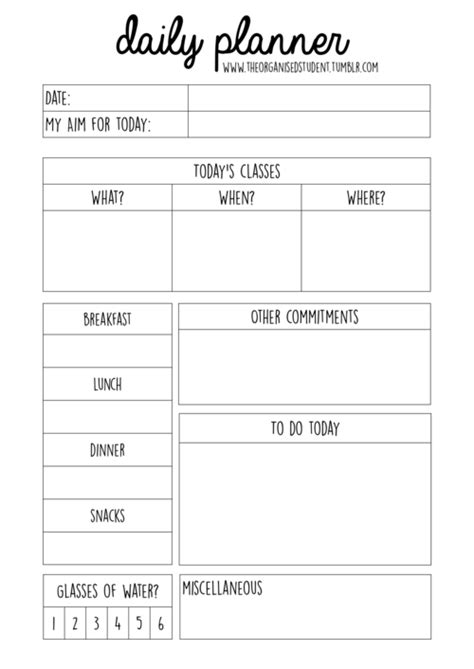 printable student weekly planner template free printables free printables students and organizing