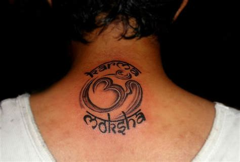 moksha tattoo designs best designs back of the neck with combination of