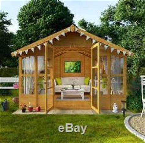 Garden Shed Names by Traditional Garden Wooden Large Summer House Shed Cabin