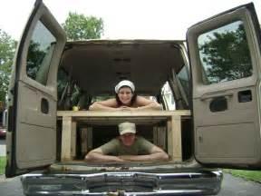 Wooden Bed Frame For Van Storage Platform For The Back Of Your Camper Van