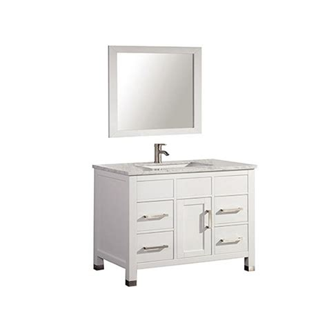 36 X 22 Vanity Top by Ricca 36 In W X 22 In D X 36 In H Vanity In White With