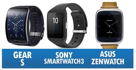 Jam Sony Smartwatch 3 Perbandingan Samsung Gear S Sony Smartwatch 3 Dan Asus