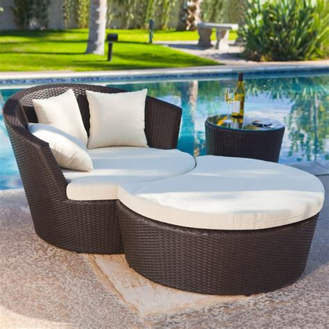 Rattan Chaise Lounge Chair Design Ideas Fascinating Outdoor Chair With Ottoman Style Exterior Segomego Home Designs