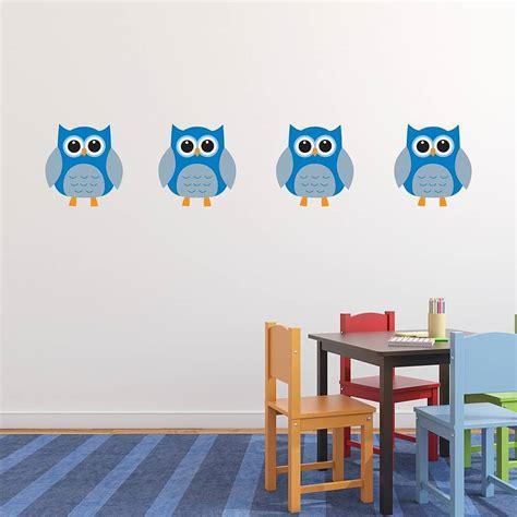fabric wall stickers owl fabric wall stickers by mirrorin notonthehighstreet