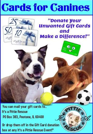 Gift Card Rescue Closed - gift card donation drive it s a pittie rescue