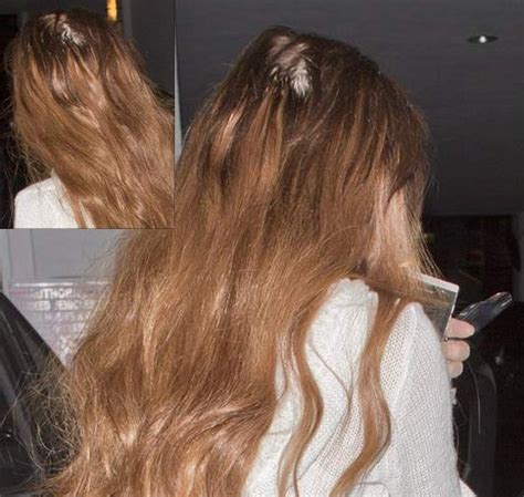 what is the best hair extensions for bald spot on top of my head lindsay lohan s extensions take their toll as she emerges