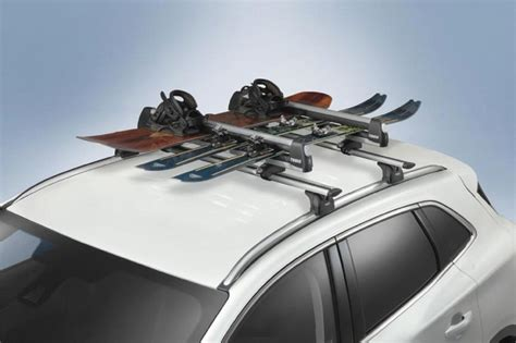 racks and carriers by thule ski snowboard carrier roof