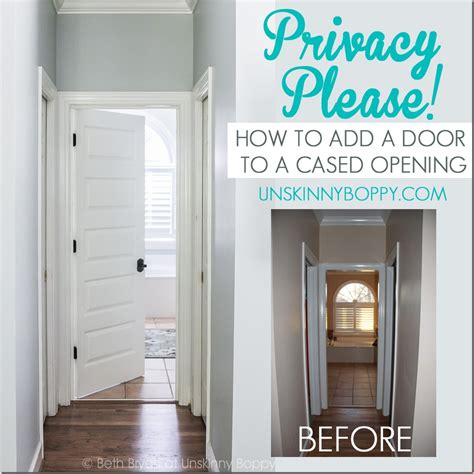 cased opening privacy how to add a door to a cased opening
