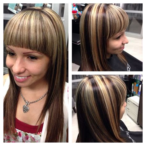 dramatic blonde highlights images dramatic highlights and lowlights my work pinterest