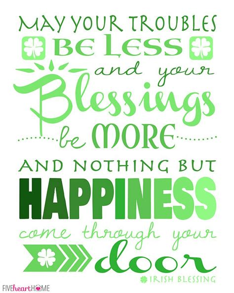 printable irish quotes st patrick s day and their symbols free printable