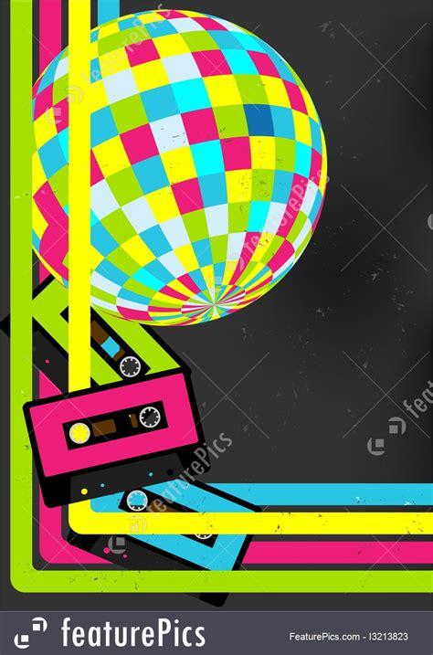 cards  posters retro party background stock