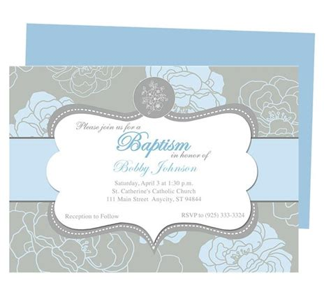 chantily baby baptism invitation templates printable diy
