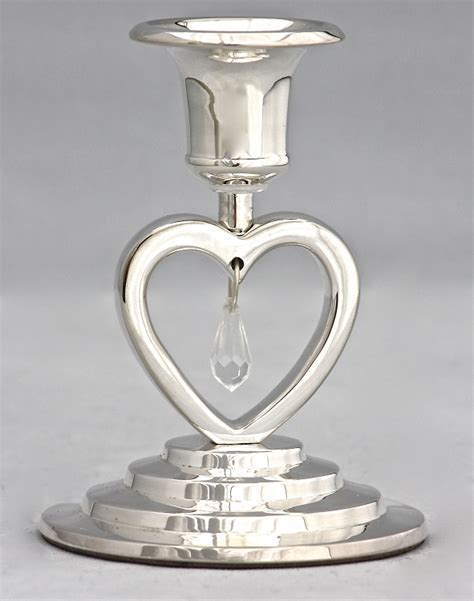 Silver Candle Stand Unity Candle Holder In Silver