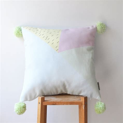 Decorative Nursery Pillows Decorative Geometric Pillow Modern Nursery Pillow Pastel