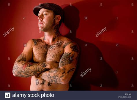 upper body tattoos arm stock photos arm stock