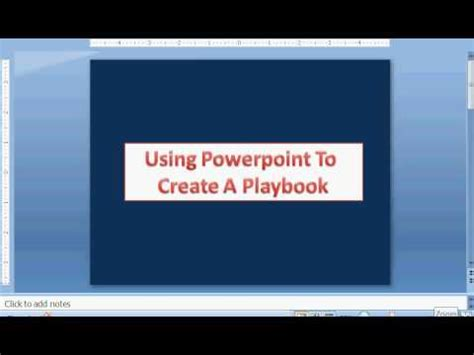 Football Playbook Create A Playbook Using Powerpoint Powerpoint Playbook