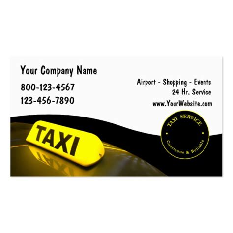 taxi business cards templates free premium taxi business card templates