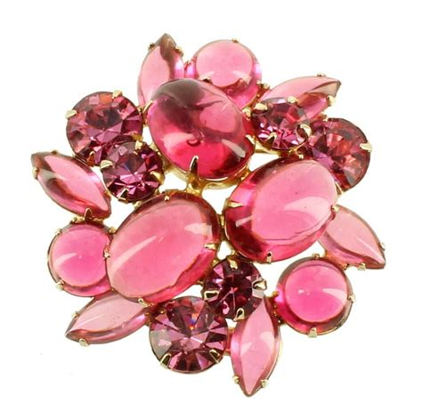 Original Jelly Been Pink Beenpink Jelly Jelly Pink Murah signed weiss vintage brooch pin pink jelly belly scoop dome wow best ebay