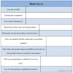 blank survey template printable blank survey template