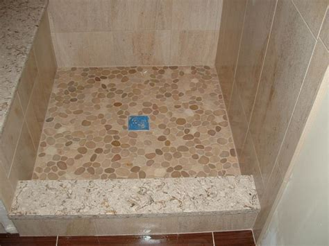 Custom Shower Base by Custom Shower Base With Sliced River Floor And