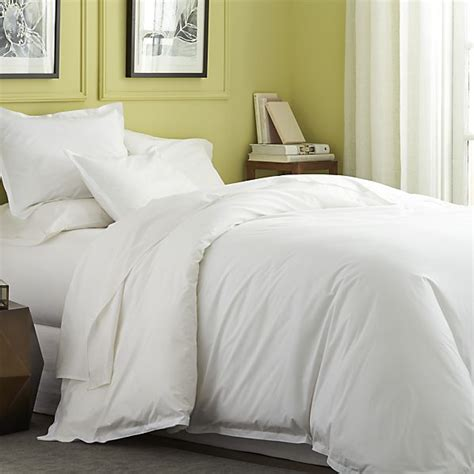 crate and barrel bedding belo white twin duvet cover