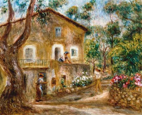 Maison De Cagne by The Maison De Collette In Cagnes Auguste Renoir