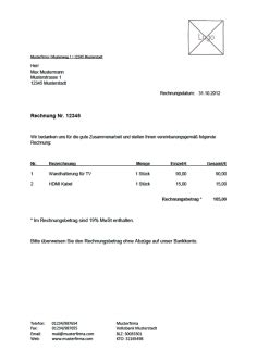 Privatperson Rechnung F R Dienstleistung kostenlose rechnungsvorlage vorlagen muster f 252 r rechnungen