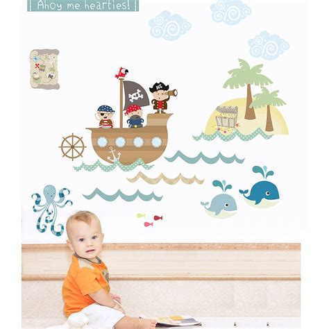 pirate wall stickers fabric wall stickers by littleprints