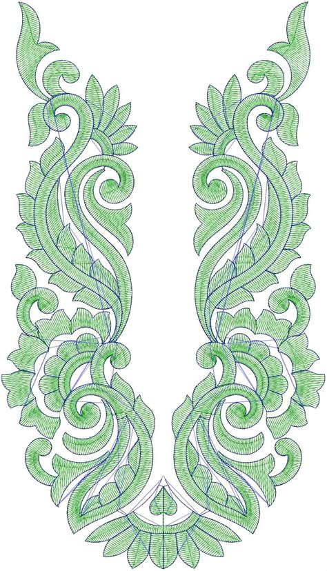 embroidery design for neck embdesigntube sindhi neck embroidery designs