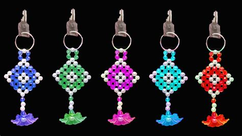 how to do bead how to make key chain beaded keychains