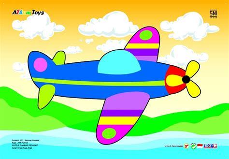 Puzzle Kayu Bentuk Pesawat puzzle stiker pesawat mainan eduka