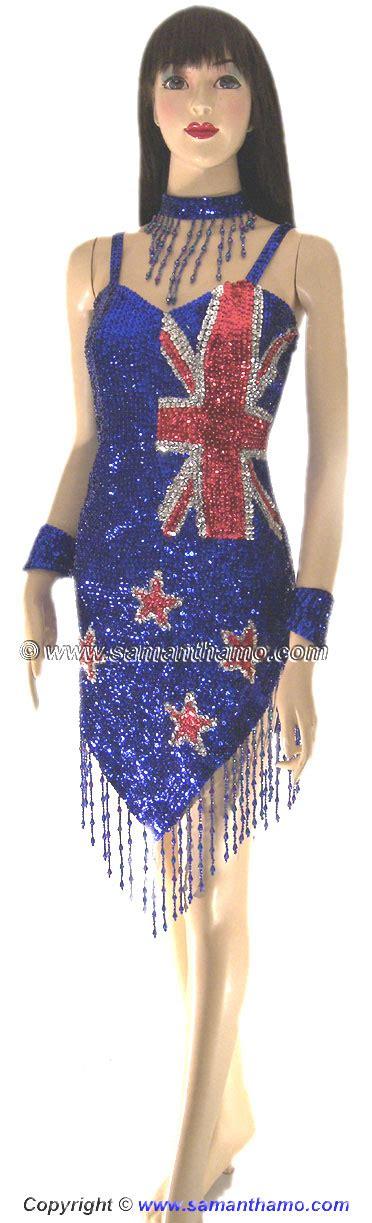 flags of the world dress sdw443 tailor made sequin new zealand flag dance dress