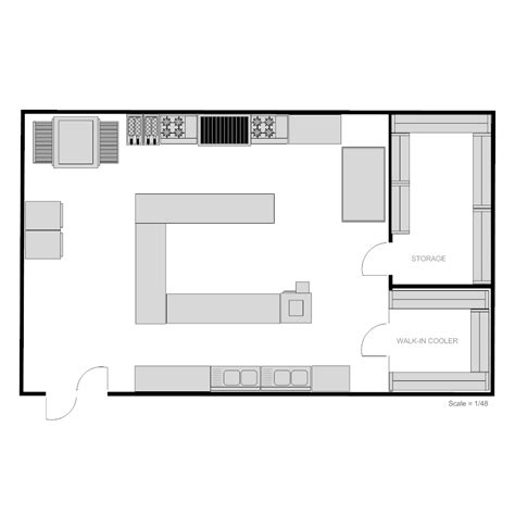 smartdraw floor plan restaurant kitchen floor plan