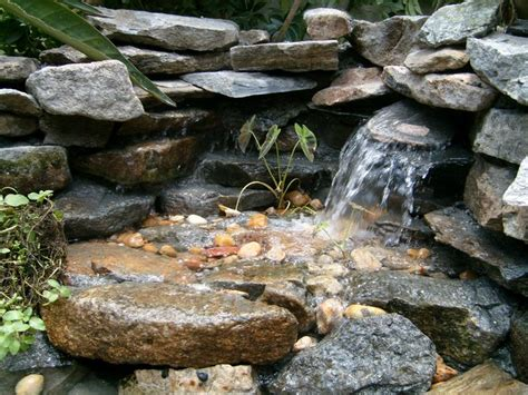 small pond free waterfall small backyard ideas