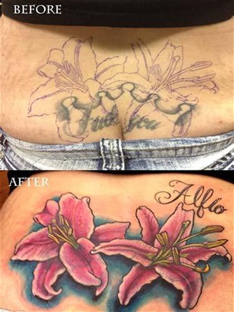 lower back coverup tattoos stargazer cover up by boston rogoz tattoos