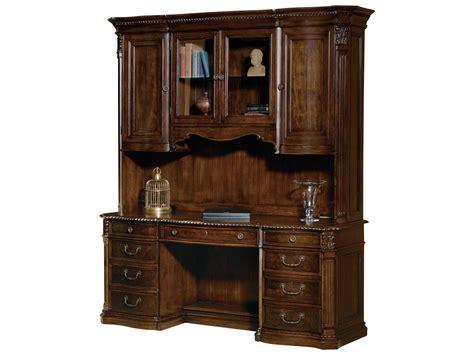 desk with credenza hekman office world walnut burl executive credenza