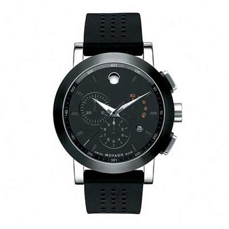 s movado museum 174 chronograph with black