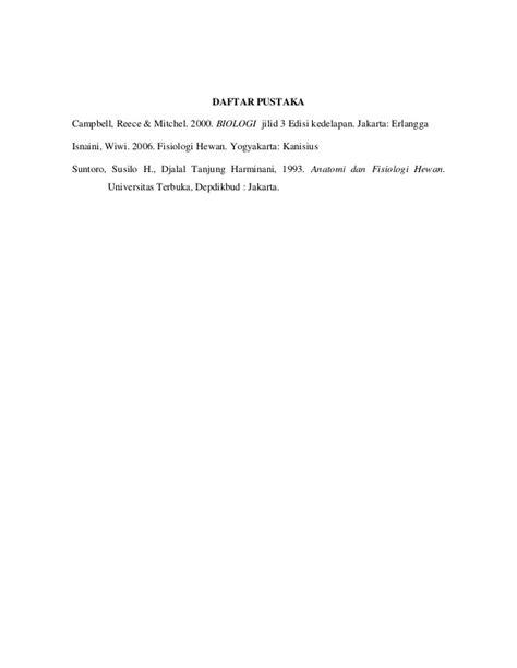 Biologi Cbell Reece Jilid 3 Edisi Kedelapan makalah sistem ekskresi hewan akuatik dan terestrial