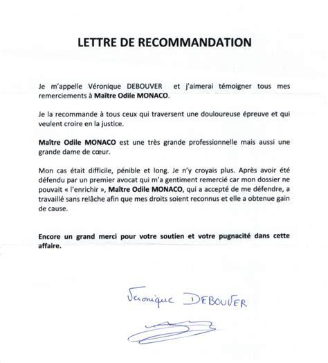 Lettre De Remerciement Bon Travail T 233 Moignages Et Avis Sur Odile Monaco Avocate Au Barreau De Sp 233 Cialiste Divorce Odile Monaco