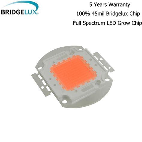 Lu Led Cob Motor 10pcs 50w 100w hydroponics bridgelux led led cob grow chip spectrum 400nm 840nm cover